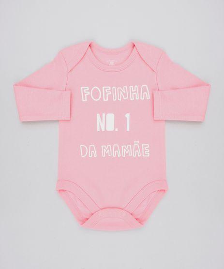 Body-Infantil--Fofinha-No-1-da-Mamae--Manga-Longa-Decote-Redondo-Rosa-9443095-Rosa_1