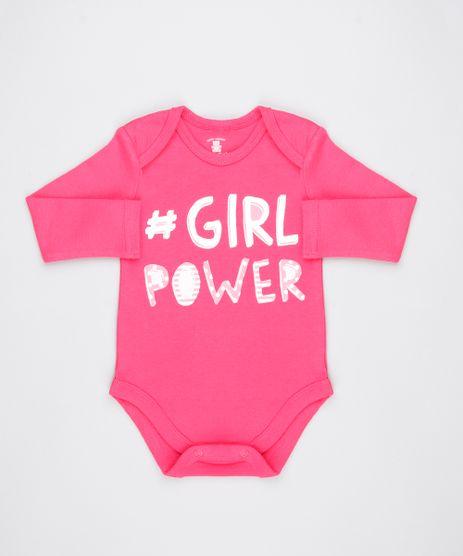 Body-Infantil--Girl-Power--Manga-Longa-Decote-Redondo-Rosa-Escuro-9443101-Rosa_Escuro_1