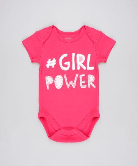 Body-Infantil--Girl-Power--Manga-Curta-Decote-Redondo-Rosa-Escuro-9443105-Rosa_Escuro_1