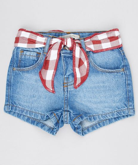 Short-Jeans-Infantil-com-Faixa-para-Amarrar-Azul-Medio-9575829-Azul_Medio_1