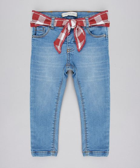 Calca-Jeans-Infantil-com-Faixa-Estampada-Xadrez-Azul-Claro-9575827-Azul_Claro_1