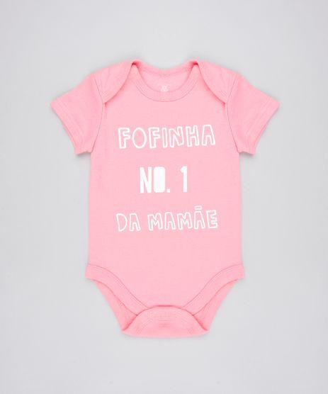 Body-Infantil--Fofinha-No-1-da-Mamae--Manga-Curta-Decote-Redondo-Rosa-9443097-Rosa_1