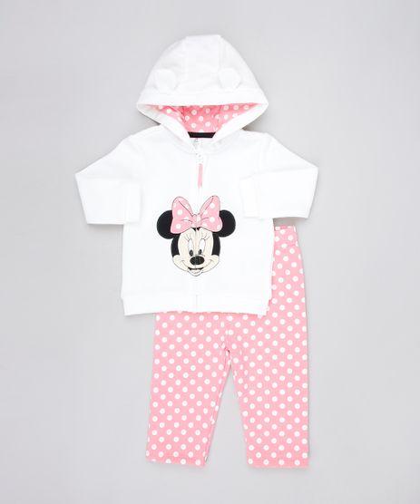 Conjunto-Infantil-Minnie-de-Blusao-com-Capuz-Cinza-Mescla---Calca-Estampada-de-Poa-em-Moletom-Rosa-9457041-Rosa_1
