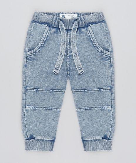 Calca-Jeans-Infantil-em-Moletom-Azul-Medio-9451008-Azul_Medio_1
