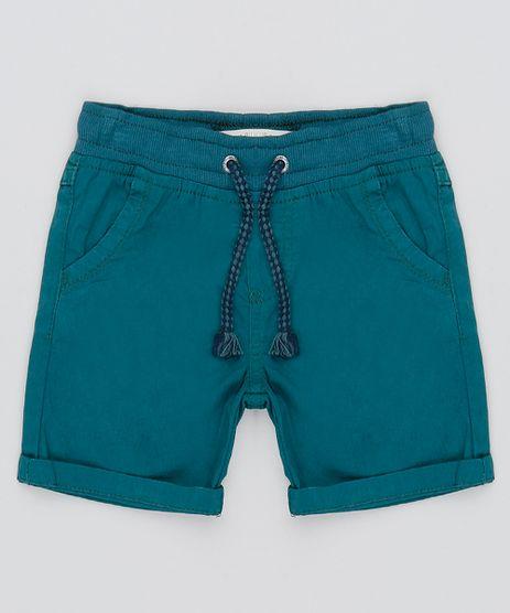 Bermuda-Color-Infantil-com-Cordao-e-Bolsos-Verde-9527120-Verde_1