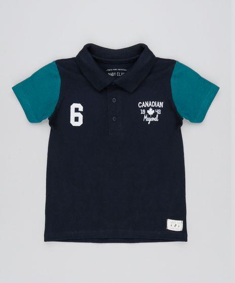 Polo-Infantil-Bicolor-em-Piquet-com-Bordado-Manga-Curta-Azul-Marinho-9531964-Azul_Marinho_1