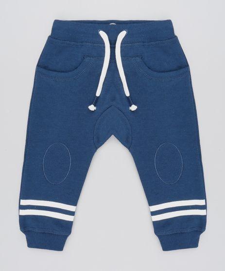 Calca-Infantil-em-Moletom-com-Listras-e-Recorte-Azul-Marinho-9359595-Azul_Marinho_1