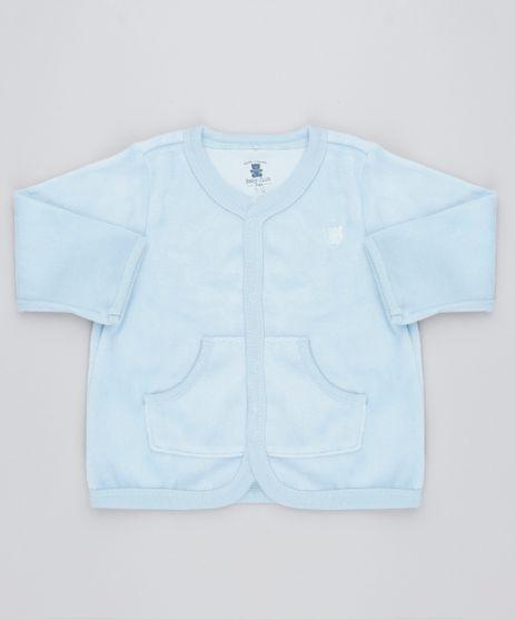 Cardigan-Infantil-em-Plush-com-Bolsos-Azul-Claro-9195565-Azul_Claro_1