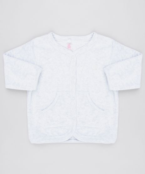 Cardigan-Infantil-em-Plush-com-Bolsos-Cinza-Mescla-Claro-9195547-Cinza_Mescla_Claro_1
