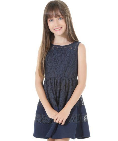 33d091575c Vestido em renda azul marinho azul marinho jpg 468x560 Vestidos renda azul