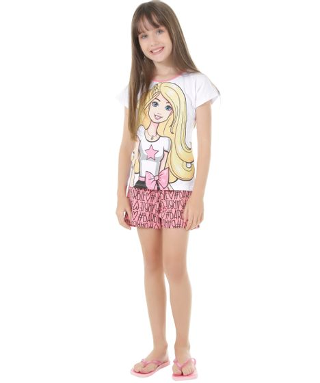 a8c302148 Pijama-Barbie-Branco-8533678-Branco 1 ...