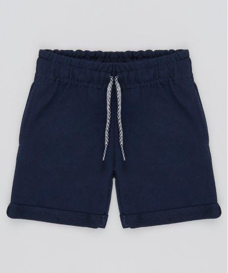 Bermuda-Infantil-com-Bolsos-em-Moletom--Azul-Marinho-9548922-Azul_Marinho_1