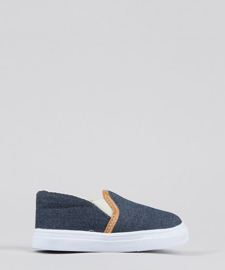 Tenis-Infantil-Slip-On-em-Jeans-Azul-Escuro-9579963-Azul_Escuro_1