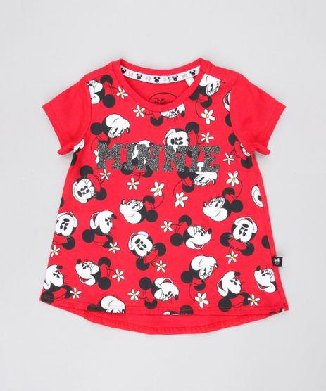 Blusa-Infantil-Minnie-com-Glitter-Manga-Curta-Decote-Redondo-Vermelha-9549217-Vermelho_1