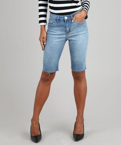 Bermuda-Jeans-Feminina-Ciclista-com-Bolsos-Azul-Claro-9586471-Azul_Claro_1