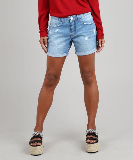 Short-Jeans-Feminino-Midi-com-Rasgos-Azul-Claro-9587515-Azul_Claro_1