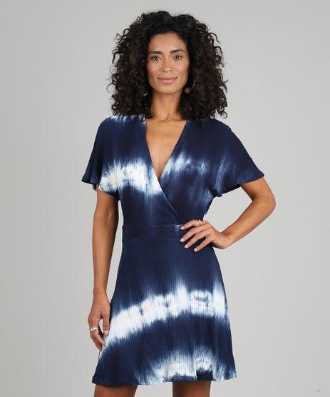 Vestido-Feminino-Curto-Transpassado-Estampado-Tie-Dye-Manga-Curta-Azul-Marinho-9581016-Azul_Marinho_1