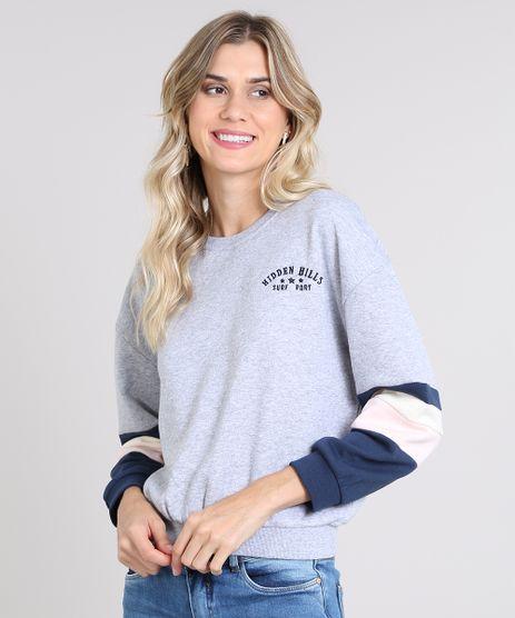 Blusao-Feminino-com-Recortes-e-Bordado-em-Moletom-Cinza-Mescla-Claro-9417155-Cinza_Mescla_Claro_1