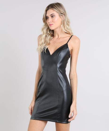 Vestido-Feminino-Curto-com-Recortes-Alca-Fina-Preto-9566394-Preto_1