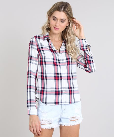 Camisa-Feminina-Estampada-Xadrez-Manga-Longa-Off-White-9573170-Off_White_1