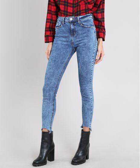 Calca-Jeans-Feminina-Cigarrete-Barra-Desfiada-Azul-Medio-9594501-Azul_Medio_1