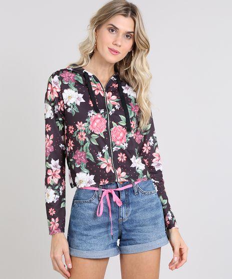 Blusao-Feminino-Estampado-Floral-com-Ziper-em-Moletom-Preto-9574972-Preto_1