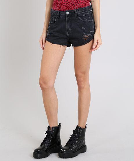 Short-Jeans-Feminino-Boy-Destroyed-com-Tachas-Preto-9590628-Preto_1