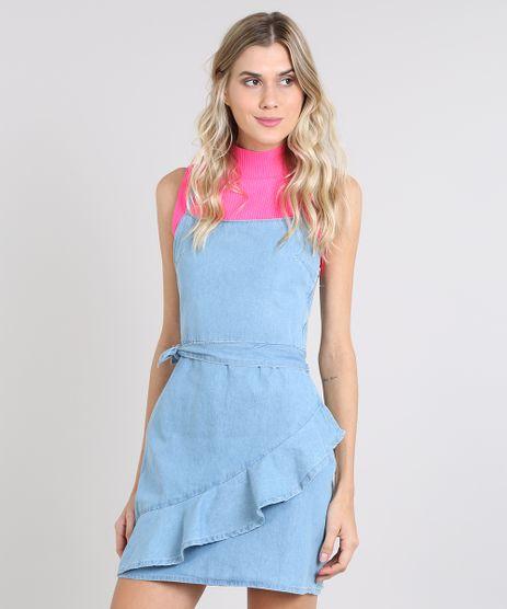Vestido-Jeans-Feminino-Curto-com-Babado-Alca-Fina-Azul-Claro-9589545-Azul_Claro_1