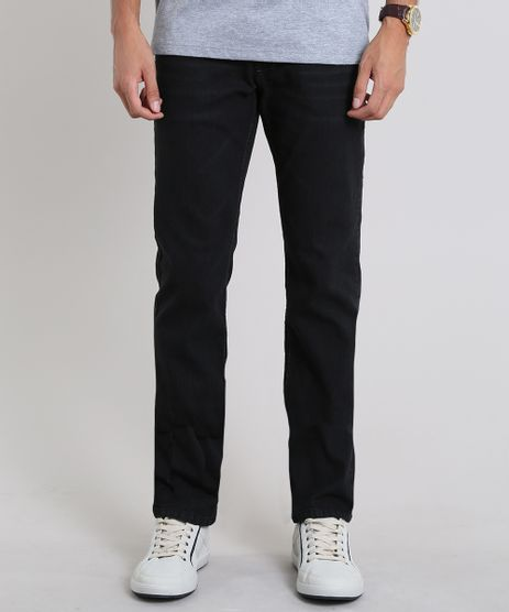 Calca-Jeans-Masculina-Reta-com-Pespontos-Preta-9586404-Preto_1