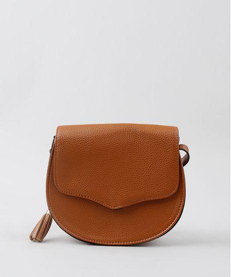 Bolsa-Feminina-Transversal-Pequena-com-Tassel-Caramelo-8369122-Caramelo_1