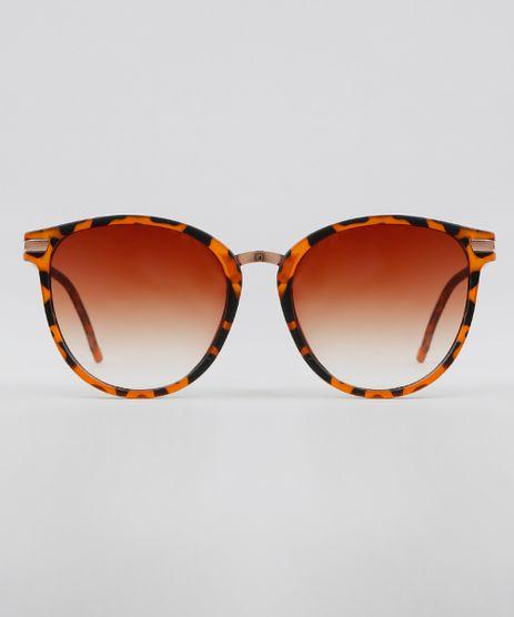 Oculos-de-Sol-Redondo-Feminino-Oneself-Marrom-9631557-Marrom_1