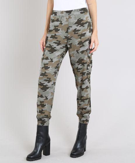 Calca-Feminina-Jogger-Cargo-Estampada-Camuflada-Verde-Militar-9452006-Verde_Militar_1