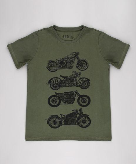 Camiseta-Infantil-Motocicletas-Manga-Curta--Verde-Militar-9542445-Verde_Militar_1