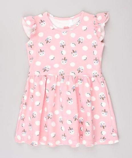 Vestido-Infantil-Estampado-de-Poa-e-Unicornios-Sem-Manga-Rosa-9558993-Rosa_1