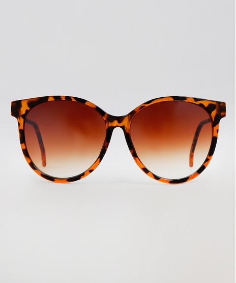 Oculos-de-Sol-Redondo-Feminino-Oneself-Marrom-9617098-Marrom_1