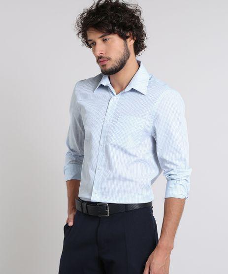 Camisa-Masculina-Comfort-Estampada-Xadrez-com-Bolso-Manga-Longa-Azul-Claro-8456460-Azul_Claro_1