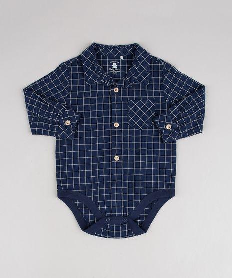 Body-Camisa-Infantil-Estampado-Xadrez-Manga-Longa-Azul-Marinho-9451012-Azul_Marinho_1