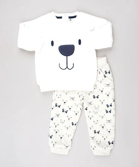 Conjunto-Infantil-de-Blusao-Urso-em-Plush-Branco---Calca-Estampada-de-Bichinhos-em-Moletom-Bege-Claro-9451001-Bege_Claro_1