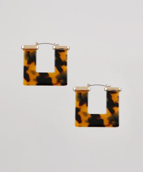 Brinco-Feminino-Quadrado-Tartaruga-Dourado-9533466-Dourado_1