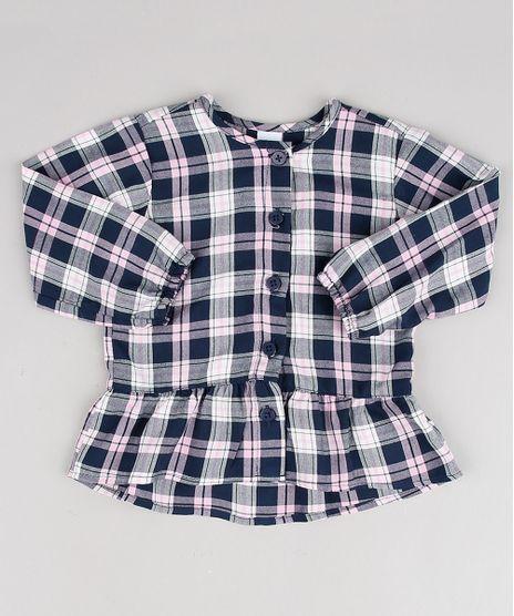 Camisa-Infantil-Estampada-Xadrez-Manga-Longa-Rosa-Claro-9575012-Rosa_Claro_1