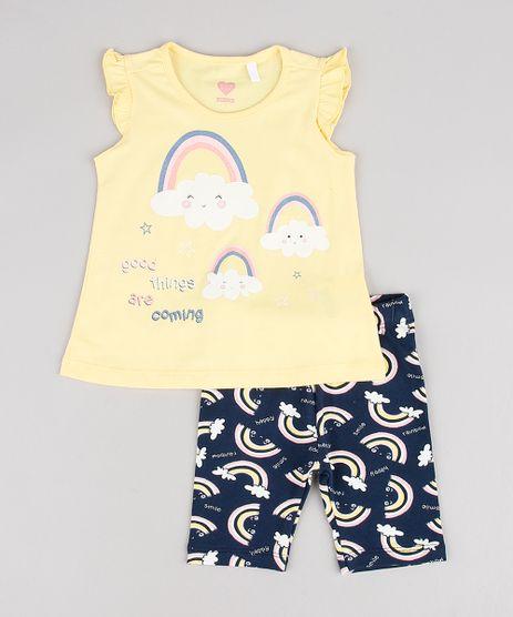 Conjunto-Infantil-de-Regata-Arco-Iris-Manga-Curta-Amarela---Bermuda-Estampada-Azul-Marinho-9557599-Azul_Marinho_1