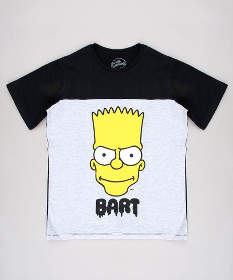 6189c9ce70 Camiseta-Infantil-Bart-Simpsons-com-Recorte-Manga-Curta-