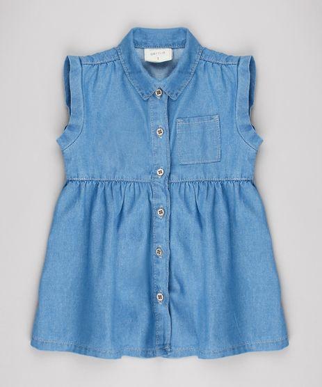 Vestido-Jeans-Infantil-com-Bolso-Sem-Manga-Azul-Claro-9561505-Azul_Claro_1