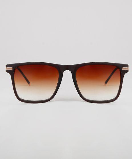 Oculos-de-Sol-Quadrado-Unissex-Oneself-Marrom-9631581-Marrom_1