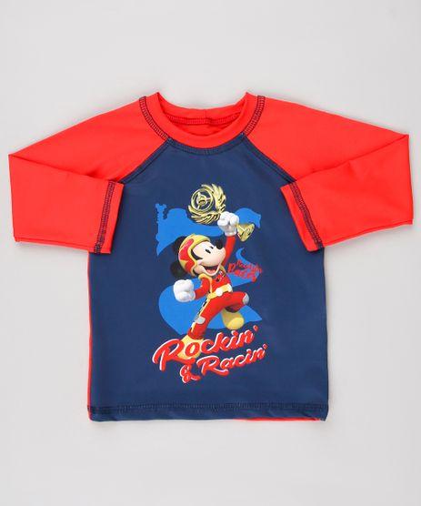 Camiseta-de-Praia-Infantil-Mickey-Raglan-Manga-Longa-Vermelha-9519455-Vermelho_1