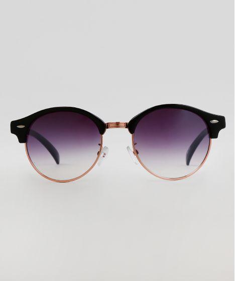 e40048d84 Oculos-de-Sol-Redondo-Feminino-Oneself-Preto-9617110- ...