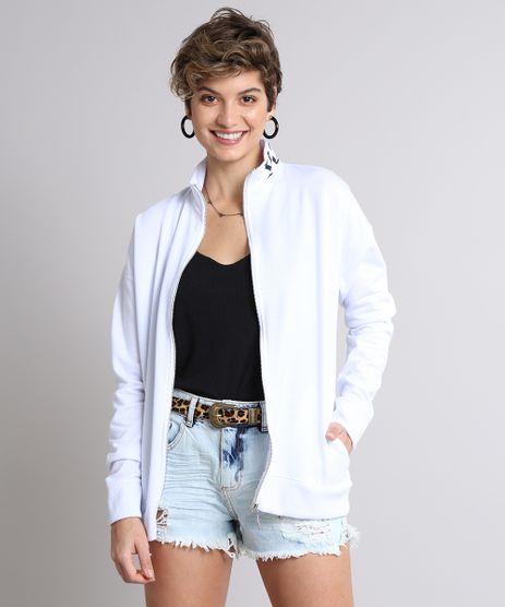Blusao-Feminino-Longo--You-Can--em-Moletom-com-Ziper-de-Argola-Branco-9583194-Branco_1