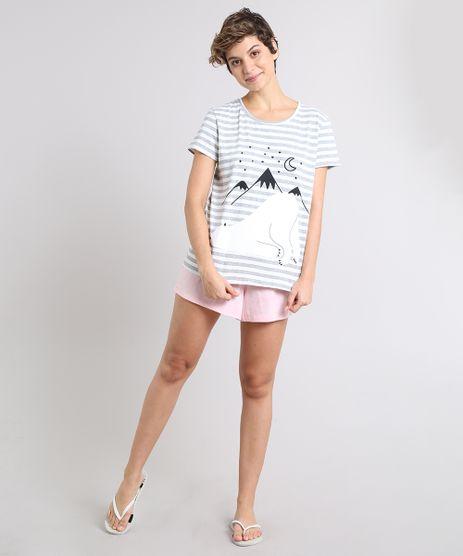Pijama-Feminino-Ursinho-Listrado-Manga-Curta-Off-White-9513820-Off_White_1