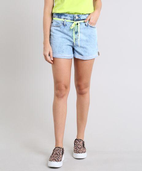 7e84b4bd7 Short-Jeans-Feminino-Mom-com-Cadarco-Barra-Dobrada-