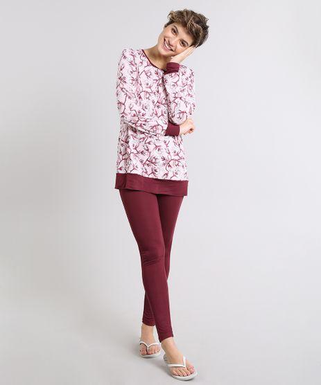 Pijama-Feminino-Estampado-Floral-Manga-Longa-Rosa-9529320-Rosa_1